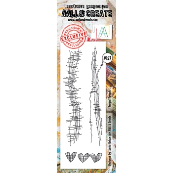AALL & Create FRAYED THREADS Clear Stamp aal00152