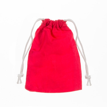 Darice 5 RED FABRIC BAGS 30030323