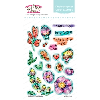 The Greeting Farm WITH LOVE Clear Stamps TGF457