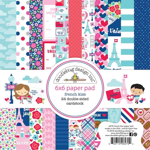 Doodlebug FRENCH KISS 6x6 Inch Paper Pad 6270 Preview Image