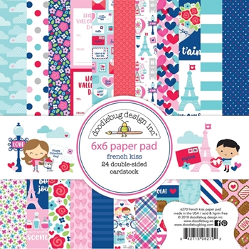 Doodlebug FRENCH KISS 6x6 Inch Paper Pad 6270