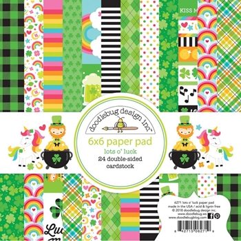 Doodlebug LOTS O' LUCK 6x6 Inch Paper Pad 6271