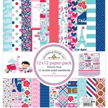Doodlebug FRENCH KISS 12x12 Inch Paper Pack 6276