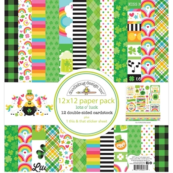 Doodlebug LOTS O' LUCK 12x12 Inch Paper Pack 6277
