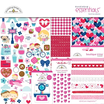 Doodlebug FRENCH KISS 12x12 ESSENTIALS Page Kit 6283