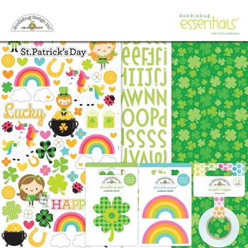 Doodlebug LOTS O' LUCK 12x12 Essentials Page Kit 6284