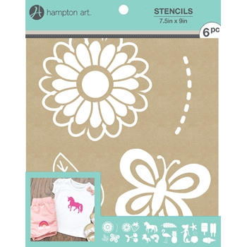 Hampton Art GOOD VIBES 7.5x9 Kraft Paper Stencils ac1015