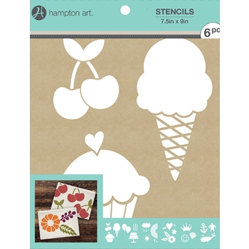 Hampton Art EVERYDAY 7.5x9 Kraft Paper Stencils ac1016