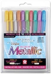 Sakura GELLY ROLL METALLIC 10 Pen Lot 57370