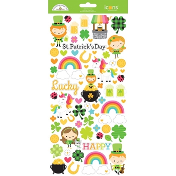 Doodlebug LOTS O' LUCK ICONS Cardstock Stickers 6263