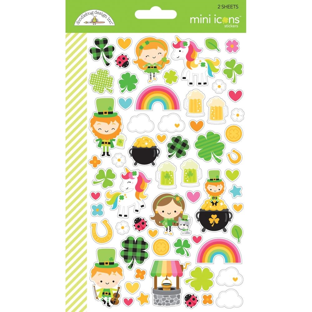 Doodlebug LOTS O' LUCK Mini Icons Cardstock Stickers 6254 zoom image