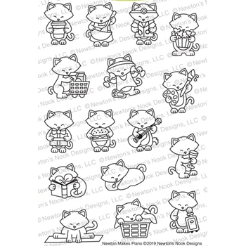 Newton's Nook Designs NEWTON MAKES PLANS Clear Stamps NN1901S04