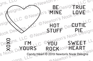 Newton's Nook Designs CANDY HEARTS Clear Stamps NN1902S03