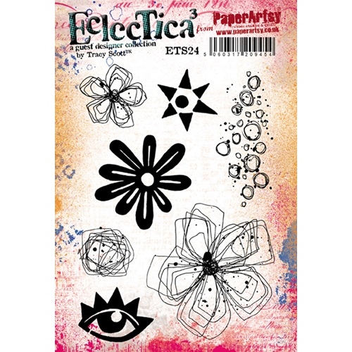 Paper Artsy ECLECTICA3 TRACY SCOTT 24 Cling Stamp ets24 Preview Image