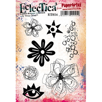 Paper Artsy ECLECTICA3 TRACY SCOTT 24 Cling Stamp ets24