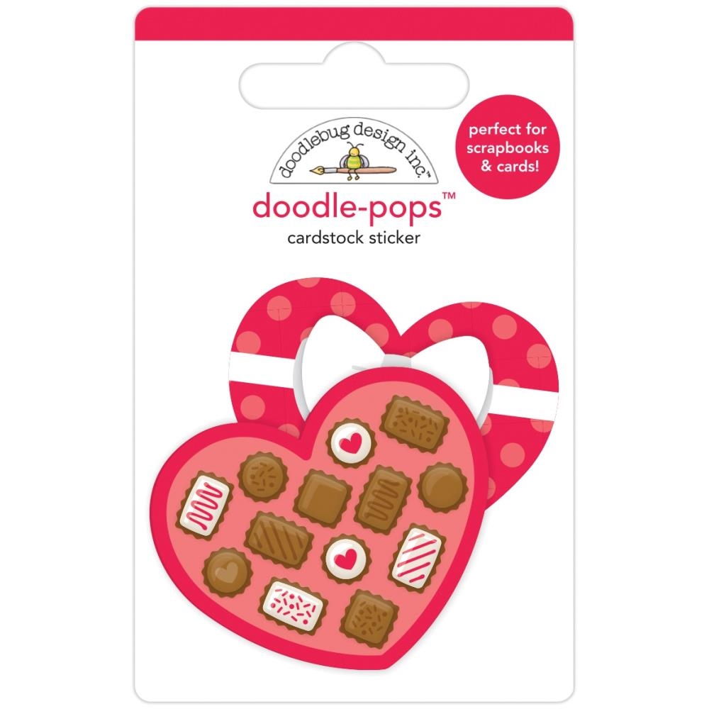 Doodlebug SWEETHEART Doodle Pops 3D Sticker French Kiss 6230 zoom image