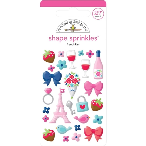Doodlebug FRENCH KISS Sprinkles Adhesive Glossy Enamel Shapes 6221 Preview Image