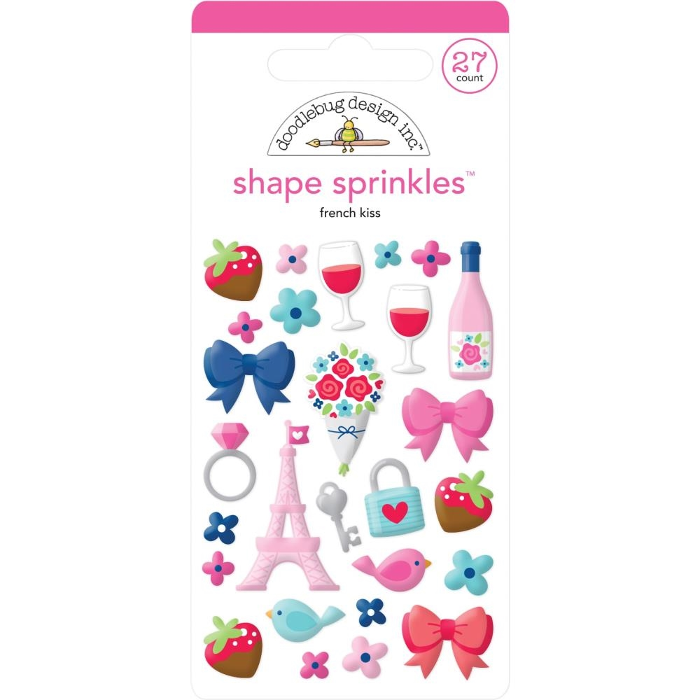 Doodlebug FRENCH KISS Sprinkles Adhesive Glossy Enamel Shapes 6221 zoom image