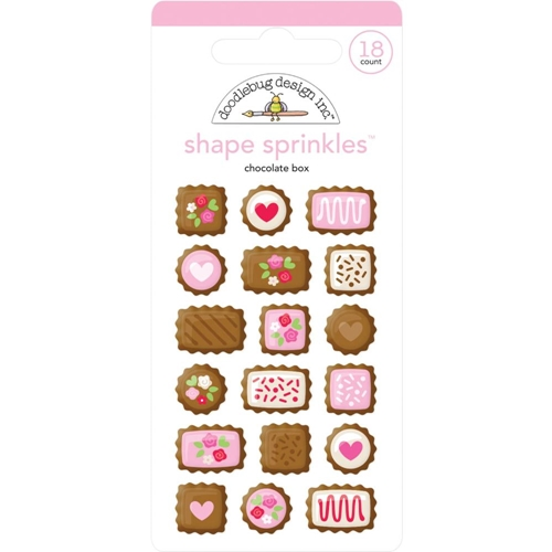 Doodlebug CHOCOLATE BOX Sprinkles Adhesive Glossy Enamel Shapes 6222 Preview Image