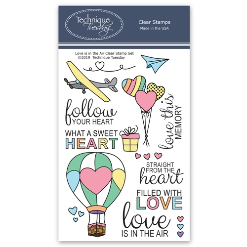 Technique Tuesday LOVE IS IN THE AIR Clear Stamps 02751 Preview Image