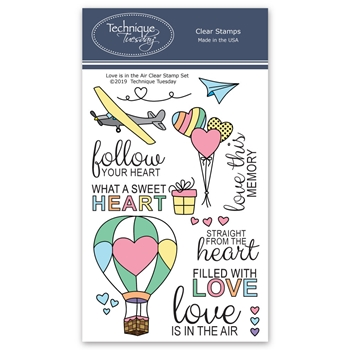 Technique Tuesday LOVE IS IN THE AIR Clear Stamps 02751