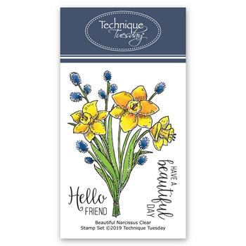 Technique Tuesday BEAUTIFUL NARCISSUS Clear Stamps 02756
