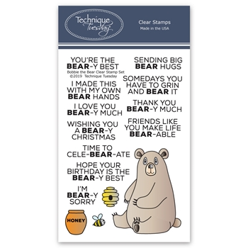 Technique Tuesday BOBBI THE BEAR Clear Stamps 02754
