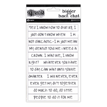 Ranger Dylusions WHITE CREATIVE DYARY BIGGER BACK CHAT STICKERS Dyan Reaveley dya65456
