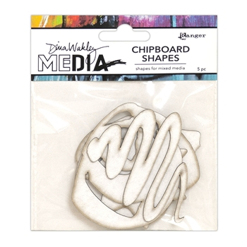 Dina Wakley Ranger BASICS Chipboard Shapes Media mda65913