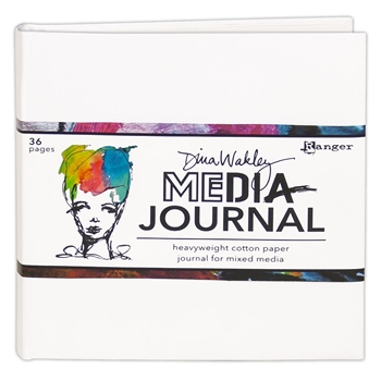 Ranger Dina Wakley Media 6 x 6 WHITE JOURNAL mdj61106