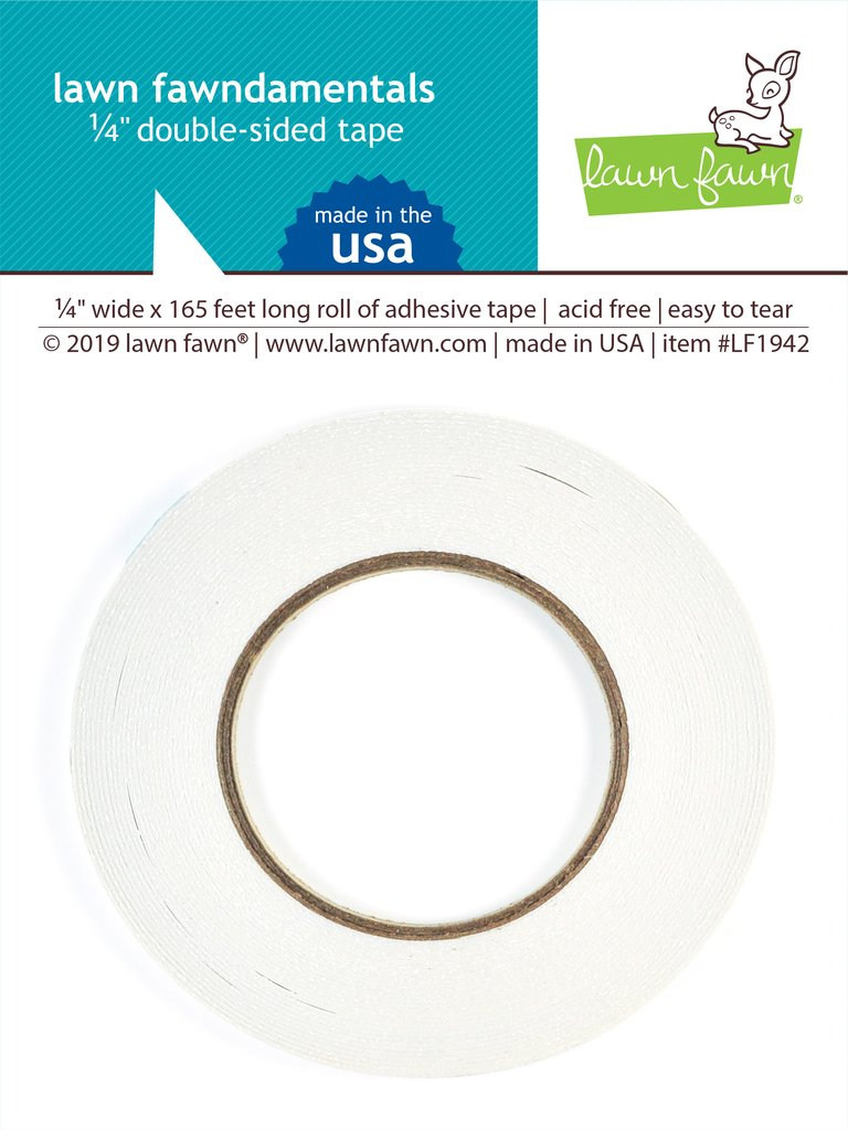 RESERVE Lawn Fawn 0.25 INCH DOUBLE SIDED TAPE Adhesive LF1942