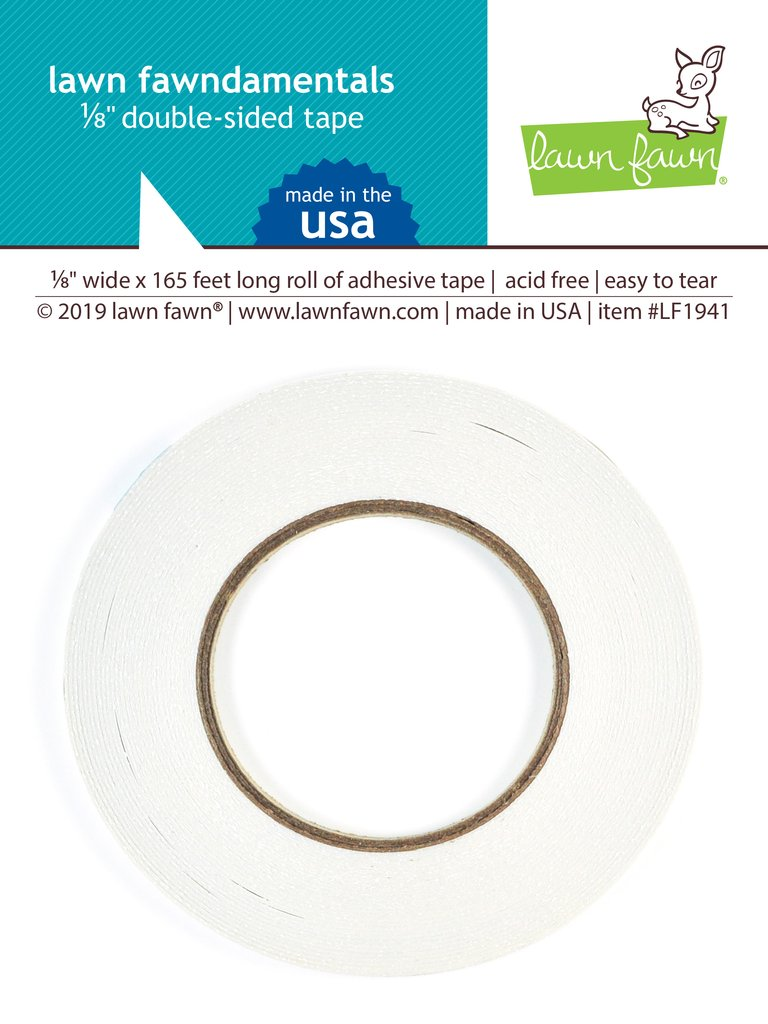 RESERVE Lawn Fawn 0.125 INCH DOUBLE SIDED TAPE Adhesive LF1941