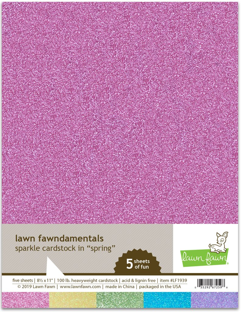 RESERVE Lawn Fawn SPRING SPARKLE 8.5 x 11 Cardstock LF1939