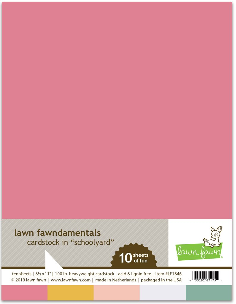 RESERVE Lawn Fawn SCHOOLYARD Cardstock Assortment Pack LF1846