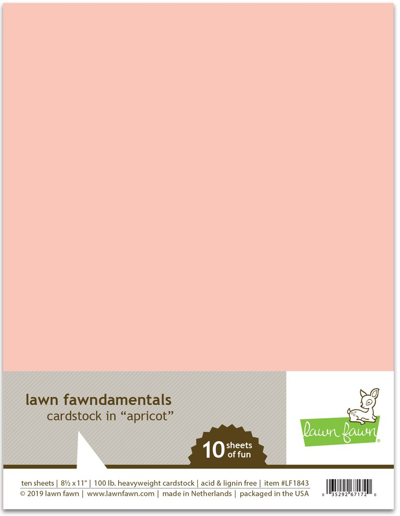RESERVE Lawn Fawn APRICOT Cardstock LF1843