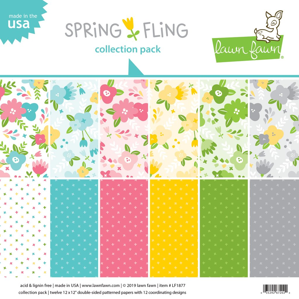 RESERVE Lawn Fawn SPRING FLING 12x12 Inch Collection Pack LF1877