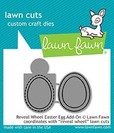 Lawn Fawn REVEAL WHEEL EASTER EGG ADD-ON Die Cuts LF1911