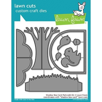 RESERVE Lawn Fawn SHADOW BOX CARD PARK ADD-ON Die Cuts LF1907