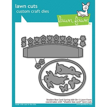 RESERVE Lawn Fawn SHADOW BOX CARD SPRING ADD-ON Die Cuts LF1906