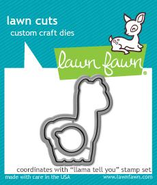 RESERVE Lawn Fawn LLAMA TELL YOU Die Cuts LF1679