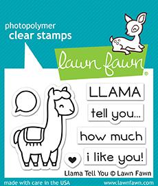 RESERVE Lawn Fawn LLAMA TELL YOU Clear Stamps LF1678