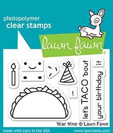 RESERVE Lawn Fawn YEAR NINE Clear Stamps LF1901