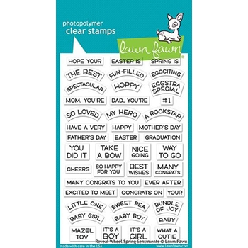 RESERVE Lawn Fawn REVEAL WHEEL SPRING SENTIMENTS Clear Stamps LF1900