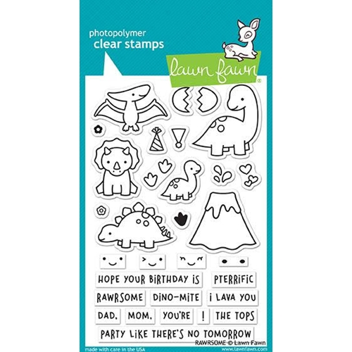 Lawn Fawn RAWRSOME Clear Stamps LF1892 Preview Image