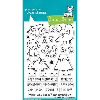 Lawn Fawn RAWRSOME Clear Stamps LF1892