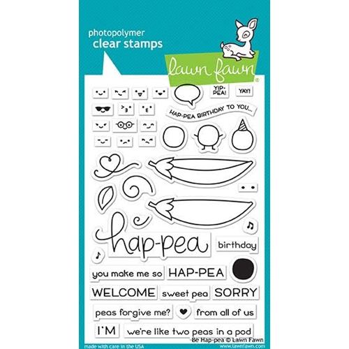 RESERVE Lawn Fawn BE HAP-PEA Clear Stamps LF1890 Preview Image