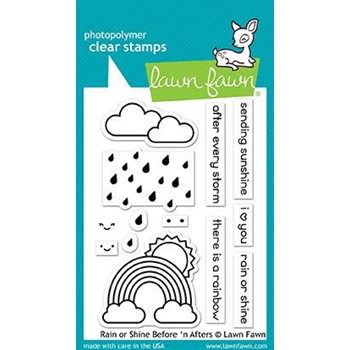 Lawn Fawn RAIN OR SHINE BEFORE 'N AFTERS Clear Stamps LF1888