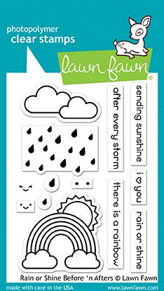 RESERVE Lawn Fawn RAIN OR SHINE BEFORE 'N AFTERS Clear Stamps LF1888