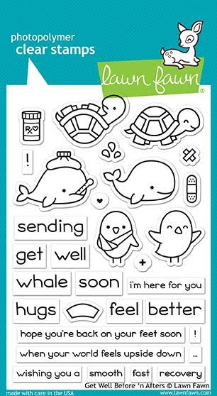 Lawn Fawn GET WELL BEFORE 'N AFTERS Clear Stamps LF1886 zoom image