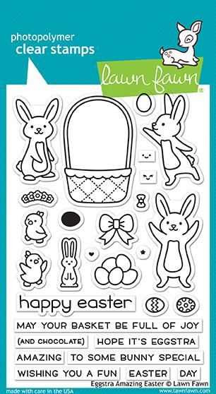 RESERVE Lawn Fawn EGGSTRA AMAZING EASTER Clear Stamps LF1884
